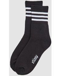 Stussy - Striped Crew Sock - Lyst