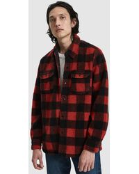 Levi's - Plaid Fleece Shirt Jacket - Lyst