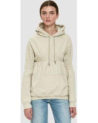 Collina Strada - Smocked Earring Hoodie In Sand - Lyst