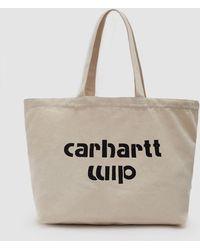 Carhartt WIP - Large Bronc Tote In Ecru / Black - Lyst