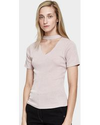 Which We Want - Cut-out Tee In Mauve - Lyst