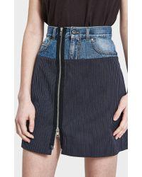 Maison Margiela - Pinstripe Cotton Skirt - Lyst