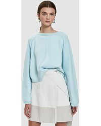 Creatures of Comfort - Batwing Pullover Jumper In Light Blue - Lyst