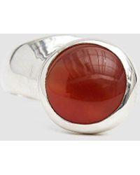 Faris Offset Carnelian Ring