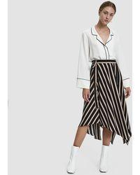 Stelen - Alice Asymmetrical Striped Skirt - Lyst