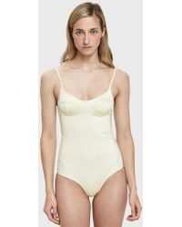 Baserange - Soft One Piece Swimsuit In Off White - Lyst