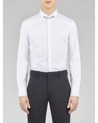 Neil Barrett Tuxedo Popeline Shirt With Necklace - White