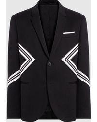 dacbaad64 Neil Barrett Iconic Modernist Bonded Jersey Jacket