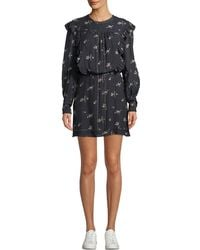 Joie - Owena Long-sleeve Floral Blouson Dress - Lyst