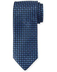 Canali - Lattice Box Silk Tie - Lyst