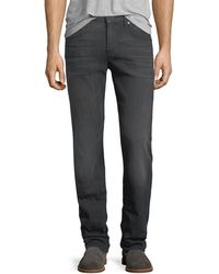 7 For All Mankind - Men's Straight-leg Airweft Denim Jeans - Lyst