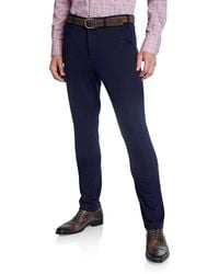 Neiman Marcus - Men's Solid Knitted Chino Pants - Lyst