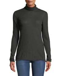 Lafayette 148 New York - Dresden Turtleneck Long-sleeve Cashmere Jersey Top - Lyst