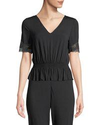 La Perla - Lapis Lace-trim Lounge Shirt - Lyst