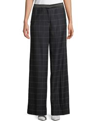 Elizabeth and James - Hansel Windowpane Wide-leg Trouser - Lyst