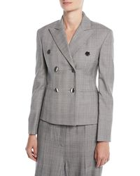 CALVIN KLEIN 205W39NYC - Double-breasted Fitted Wool Blazer - Lyst