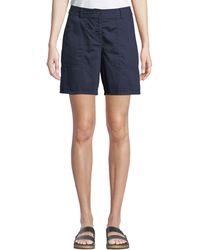 Eileen Fisher - Organic Cotton Twill Walking Shorts - Lyst