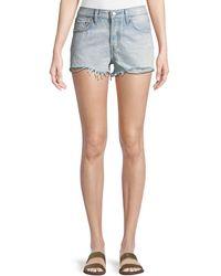 Levi's Premium - Bleached Authentic Denim Cutoff Shorts - Lyst