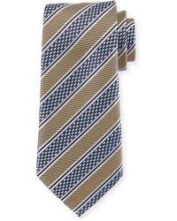 Ermenegildo Zegna - Diamond Stripe Silk Tie - Lyst