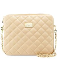 St. John - Quilted Leather Chain Shoulder Bag - Lyst