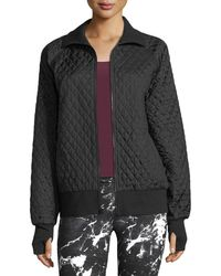Norma Kamali - Zip-front Quilted Bomber Jacket - Lyst