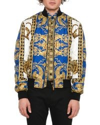 Versace - Men's Graphic Quilted Bomber Jacket - Lyst