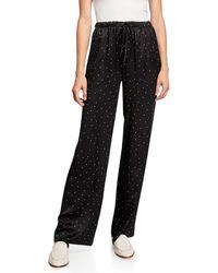Vince - Dot-print Silk Pajama Pants - Lyst