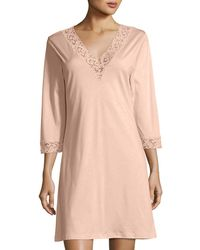 Hanro | Moments Lace-trim Sleepshirt | Lyst