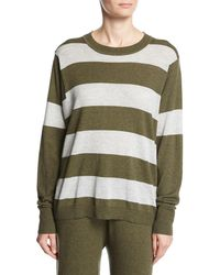 Minnie Rose - Long-sleeve Striped Pullover Top - Lyst