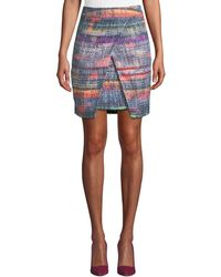 Emporio Armani - Wrapped Hyper-tweed Skirt - Lyst