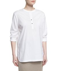 Misook Collection - Button-placket Long-sleeve Blouse - Lyst