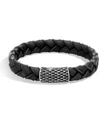 John Hardy - Men's Legends Woven Leather Bracelet - Lyst