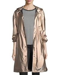 Emporio Armani | Snap-front Hooded Anorak Coat | Lyst