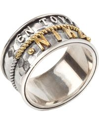 Konstantino - Men's Stavros Sterling Silver Band Ring - Lyst