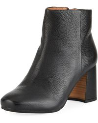 Gentle Souls - Troy Leather Block-heel Booties - Lyst