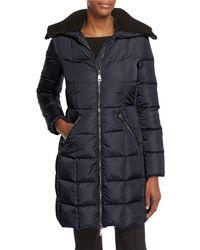 Moncler - Davida Zip-front Long-sleeve Quilted Puffer Coat - Lyst