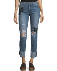 Joe's Jeans - The Smith Distressed Straight-leg Ankle Jeans - Lyst