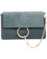 Chloé - Faye Small Suede & Leather Shoulder Bag - Lyst