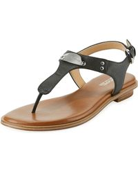 21916fc87830 Lyst - MICHAEL Michael Kors Plate Thong Sandal in Brown