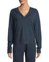 Skin - Jayden Pima Cotton Jersey Pullover Hoodie - Lyst