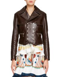 Chloé - Classic Double-breasted Leather Jacket - Lyst