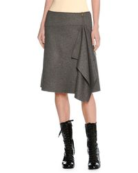 Tomas Maier | Felted Wool Asymmetric Draped Skirt | Lyst