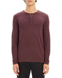 Theory - Men's Anemone Snap-placket Henley Shirt - Lyst