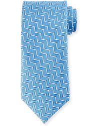 Charvet - Zigzag Silk Tie - Lyst