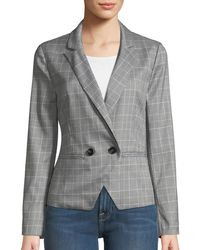 Cupcakes And Cashmere - Belmont Plaid Double-breasted Blazer - Lyst