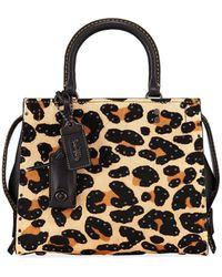 COACH - Rogue 25 Haircalf Leopard Tote Bag - Lyst