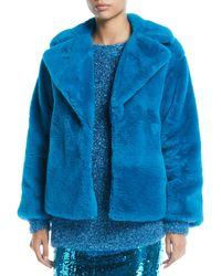 Alice + Olivia - Thora Faux-fur Oversized Coat - Lyst
