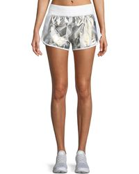 Under Armour - Fly-by Metallic Printed Running Shorts - Lyst
