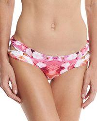 6 Shore Road By Pooja - Soho Floral-print Strappy Swim Bikini Bottom - Lyst