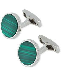 Dunhill - Radial Circle Malachite Inlay Cufflinks - Lyst
